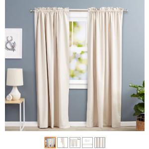Visillos y cortinas para que no pase la luz, cortina antiluz de tela térmica.