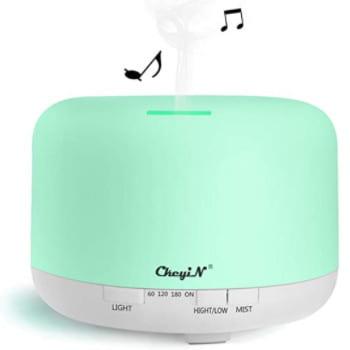 Difusor de aromas humidificador multifunción. Con luces y reproductor de música.