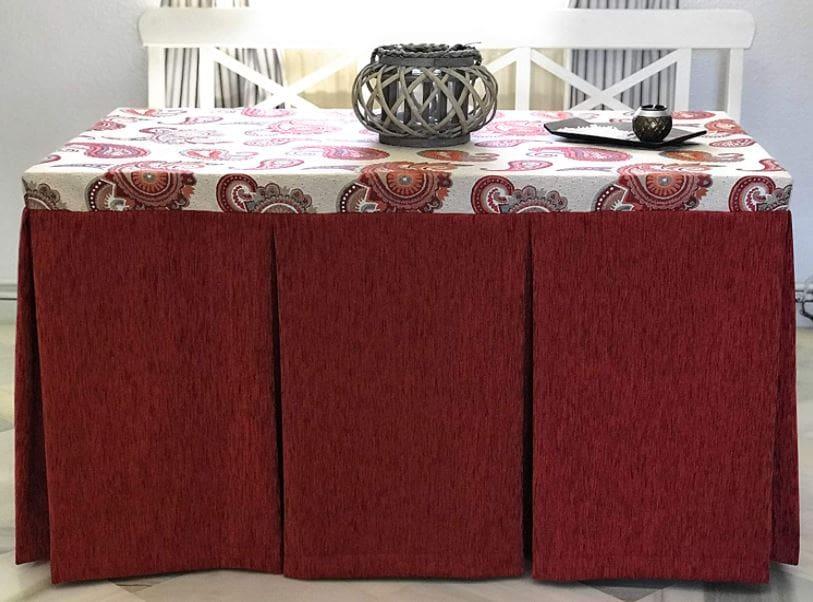 Las mejores faldas de mesa camilla hechas a mano artesanales.