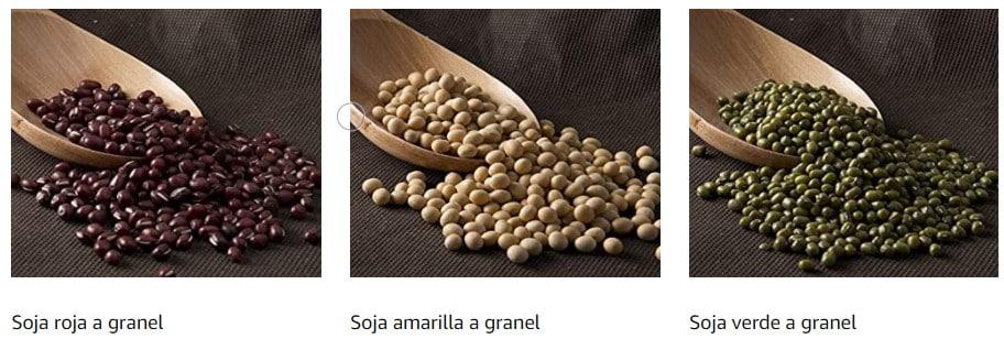 Semillas de soja para relleno de almohadas y cojines térmicos.