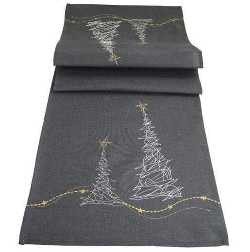 camino de mesa abstracto navideño