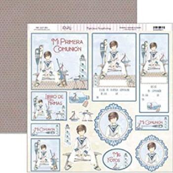 Colección scrapbooking para comunión niño.
