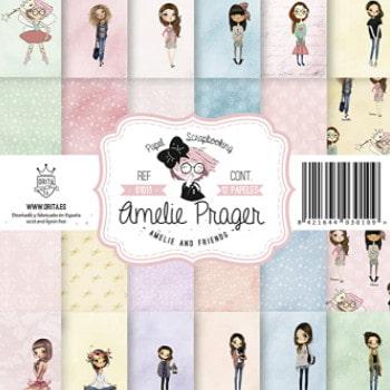 papeles scrapbooking Amelie Prager.