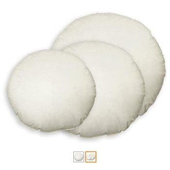 Relleno para cojines redondos en varias medidas tamaños y diámetros mullidos.