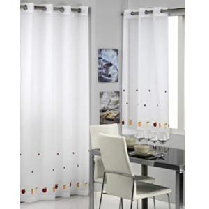 Cortinas originales para cocina: Visillos cocina puerta ventana.