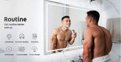 espejo baño luz