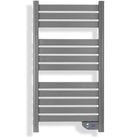 Radiador toallero eléctrico bajo consumo en color gris de lujo (eficiencia energética)