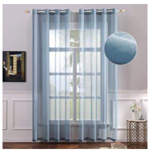 Visillos azules para puertas y ventanas del hogar.