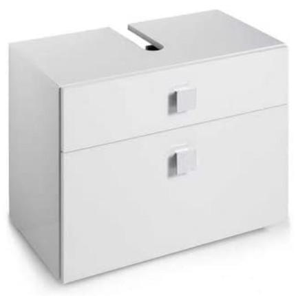 Mueble con cajones para debajo del lavabo de color blanco.
