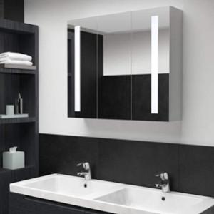 espejos de baño con armario con luz
