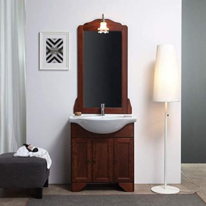 Muebles lavabo de gran calidad fabricados con madera para el cuarto de baño: Lavabo estilo shabby chic.