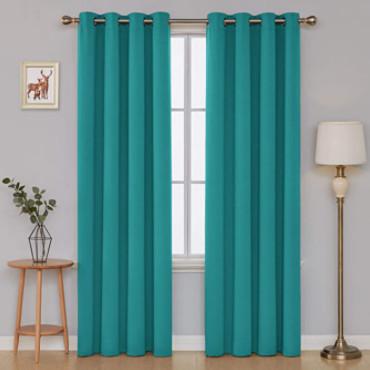 cortinas del color turquesa original.