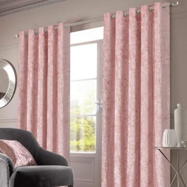 cortinas de terciopelo rosa baratas para cubrir ventanas.