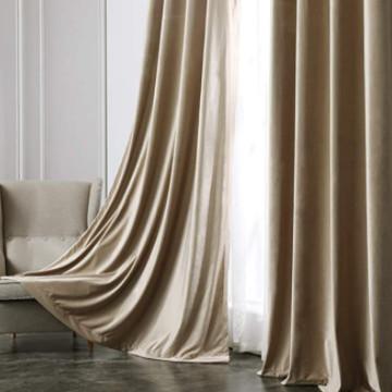 Cortinas decorativas de terciopelo elegante.