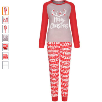 Pijamas de navidad para toda la familia. Pijamas de navidad de estilo Nórdico.