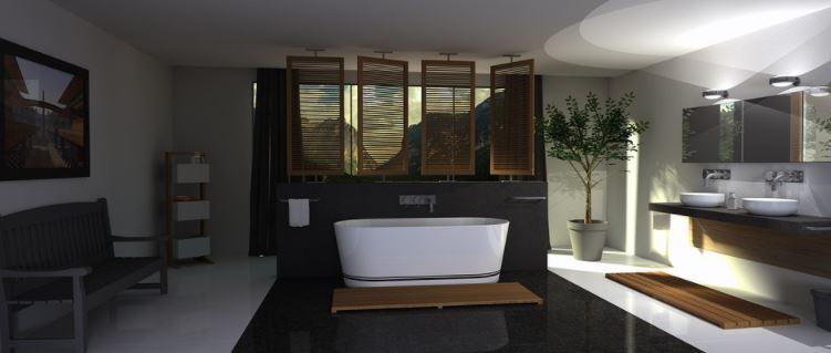 Un cuarto de baño que muestra ideas modernas y atractivas con estilo original y diferente.