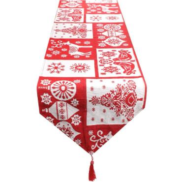 caminos de mesa patchwork navideños elegantes
