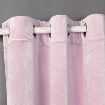 cortinas de terciopelo rosa palo empolvado barata pero de gran calidad.