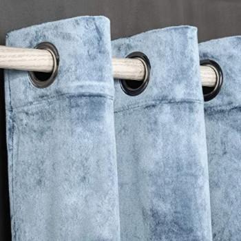 mejores cortinas de terciopelo azul claro económicas.