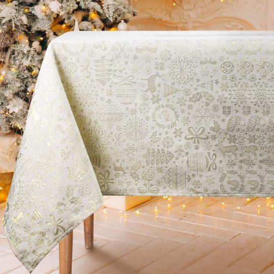 mantel para vestir la mesa de navidad.