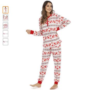 Pijamas de navidad familiares para ir toda la familia a conjunto de navidad para dormir.