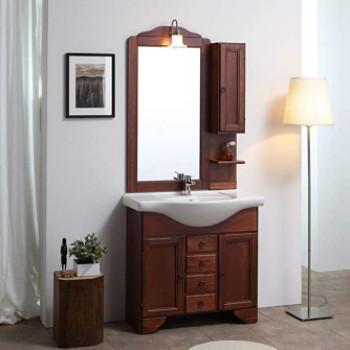 mueble de baño rústico de estilo antiguo. Conjunto completo grande.