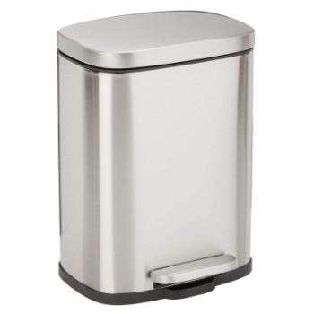 Accesorios de baño: Selección de papeleras de baño fabricadas en acero inoxidable.