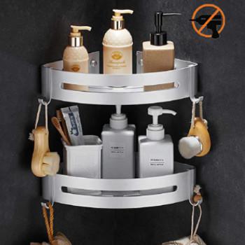 Accesorios de baño: repisas de aluminio para la ducha para colgar en alguna esquina.