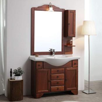 mueble de baño rústico de estilo antiguo. Conjunto completo muy grande.