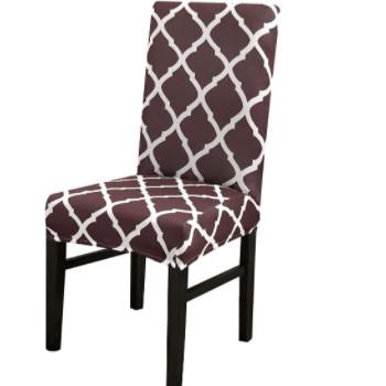 Fundas vintage retro para sillas de comedor.